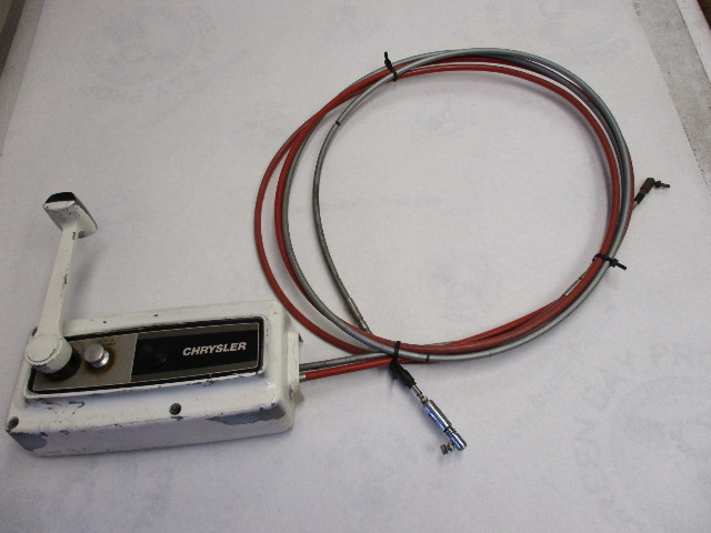 Force Chrysler Outboard 10 Ft Cables Remote Control Box