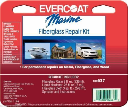100637 Evercoat Marine Fiberglass Repair Kit 8 oz