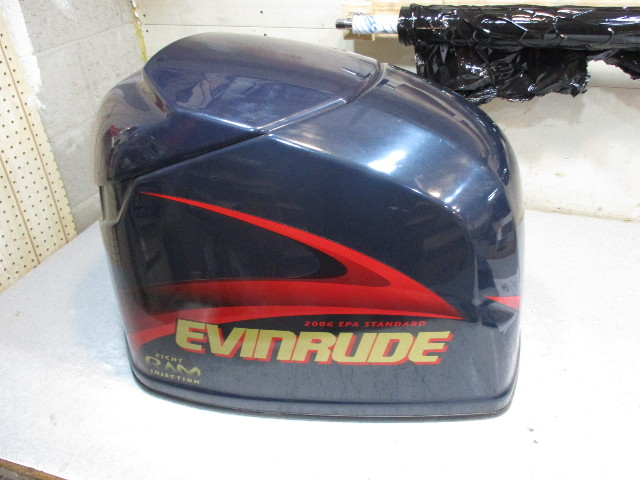 5004956 Engine Cover Cowl Evinrude Outboard Ficht Dark