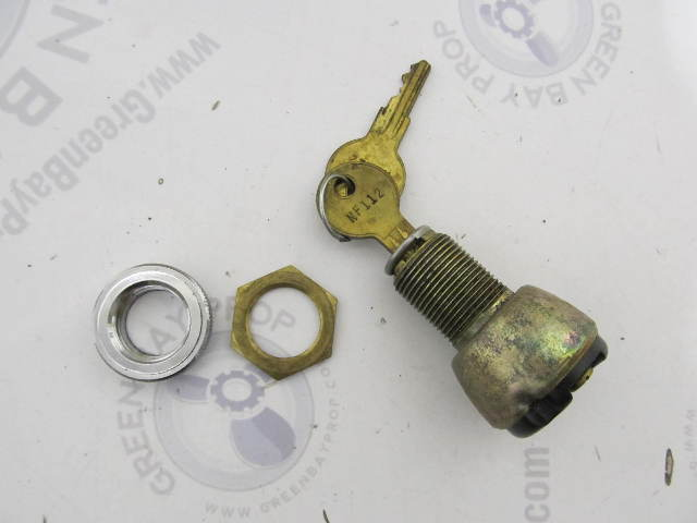 Ilco Brass Marine Hatch Glove Box Lock & Key NF112 NF 112