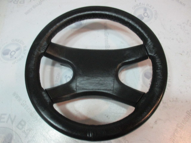 "1991 Forester 190 Sport Marine Boat Steering Wheel 13.75"" Black Plastic Padded"