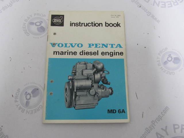 2562 volvo penta marine diesel md6a owner s instruction book 1972 rh greenbayprop com User Manual Repair Manuals