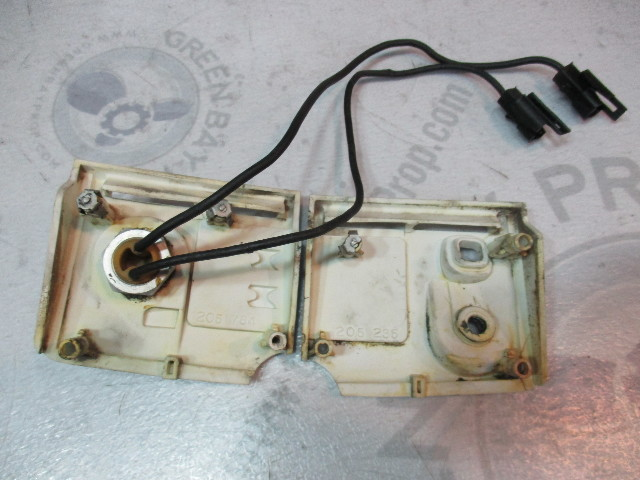 381910 381911 Vintage Evinrude Johnson Outboard 9.5 HP Front Control Panel 1968