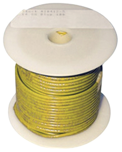 SINGLE CONDUCTOR TINNED MARINE PRIMARY WIRE, BULK-16 Ga Yellow 100 ...