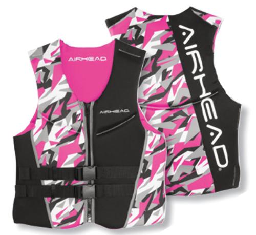 AIRHEAD CAMO COOL LADIES' NEOLITE SKI VEST-X-Small NeoLite Vest, Pink Camo