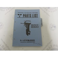 002-21025-0 Parts List Catalog for Tohatsu Outboard Model M25C2 M30A3