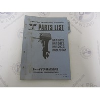 002-21029-0 Parts List Catalog for Tohatsu Outboards M18C2 M15B2 M12C2 M9.9B2