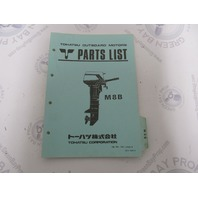 002-21030-0 Parts List Catalog for Tohatsu Outboard Model M8B
