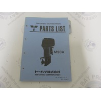 002-21031-0 Parts List Catalog for Tohatsu Outboard Model 90A
