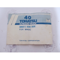 003-11015-1 Outboard Owner's Operating Manual Hand Book for Tohatsu M40C