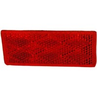 003358 Wesbar Boat Trailer Red Reflex Reflector Lens, Adhesive Mount