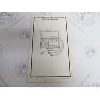 90-13833-3 Mercury Outboard Electronic Fuel Injection Tester Manual
