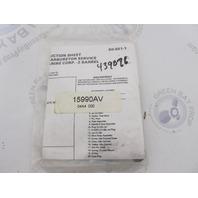 15990AV 439076 Carburetor Serive Repair Kit OMC Evinrude Johnson 85-140HP