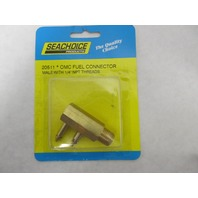 "20511 Seachoice OMC Brass Fuel Connector 1/4"" NPT Male"