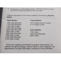 22067 Bayliner Capri Cobra Trophy Boat Owner's Manual