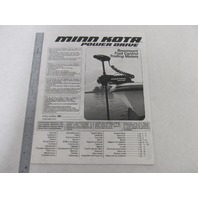 Minn Kota Power Drive Bowmount Foot Conrol Trolling Motor Owner's Manual