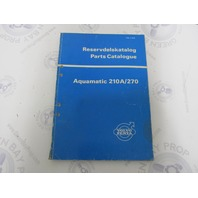 2475 Volvo Penta Parts Catalog Aquamatic 210A/270 1970