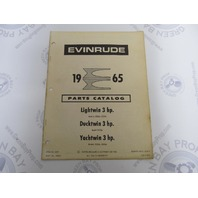 278643 1965 Evinrude Outboard Parts Catalog 3 HP Lightwin Ducktwin Yachtwin