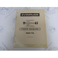 278644 1965 Evinrude Outboard Parts Catalog 5 HP Angler