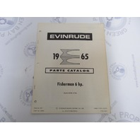 278645 1965 Evinrude Outboard Parts Catalog 6 HP Fisherman