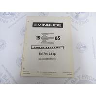 278648 1965 Evinrude Outboard Parts Catalog 33 HP Ski-Twin