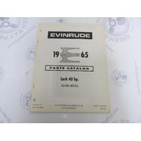 278650 1965 Evinrude Outboard Parts Catalog 40 HP Lark