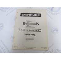 278653 1965 Evinrude Outboard Parts Catalog 75 HP Starflite