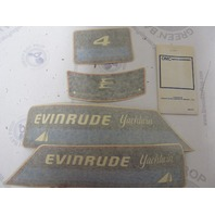 0281915 281915 OMC Evinrude Yachtwin 1982-84 4 HP Cowl Decal Set NLA