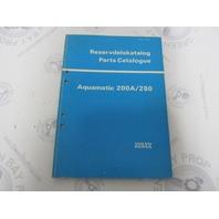 2868 Volvo Penta Parts Catalog Aquamatic 200A/280 1973