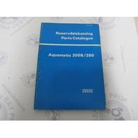 2999 Volvo Penta Parts Catalog Aquamatic 200B/280 1975