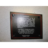 1991 Bayliner Capri Boat Warning Dash Panel