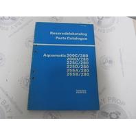 3360 Volvo Penta Parts Catalog Aquamatic 200C/D 225C/D 255A/B/280 1977