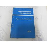 3379 Volvo Penta Parts Catalog Aquamatic 225B/280 1977