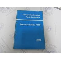 3453 Volvo Penta Parts Catalog Aquamatic 280A/280 1978