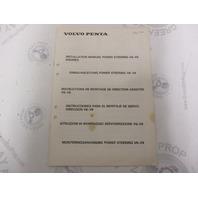 3810035 Volvo Penta Installation Manual Power Steering V6-V8 Engines 1984