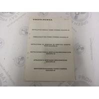 3810036 Volvo Penta Installation Manual Power Steering AQ(A)D30-40 1984