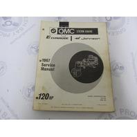 382513 OMC Evinrude Johnson Stern Drive 120 HP 1967 Service Manual