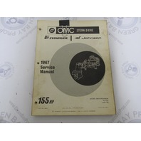 382514 OMC Evinrude Johnson Stern Drive 155 HP 1967 Service Manual
