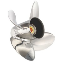 14.25 x 17 Pitch Stainless 4-Blade Prop Evinrude Johnson 90-300 Hp Outboard