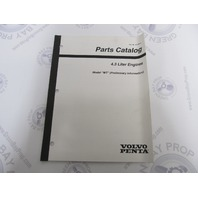"3850085-6 Volvo Penta Stern Drive Parts Catalog 4.3L ""WT"""