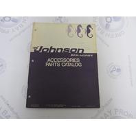 385066 1971 Johnson Sea-Horse Outboard Accessories Parts Catalog Final Edition