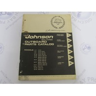 1972 Johnson Sea-Horse Outboard Parts Catalog 385520 Preliminary Edition