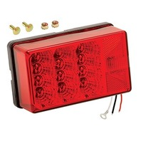 407550 Wesbar LED Boat Trailer Red Waterproof RIGHT Combo Tail Light