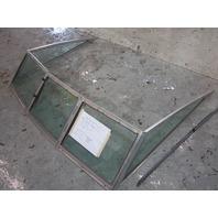 "1984 16' Chris Craft Boat Walk Through Windshield 64 1/2"" Aluminum Frame"