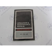 90-44562890 Mercury Outboard Operation & Maintenance Manual 45/50/60 HP