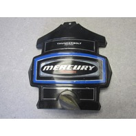 Mercury Outboard Thunderbolt Ignition Blue Decal Black Front Cowl Cover
