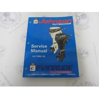 "500607 Johnson Evinrude Outboard Service Manual ""ER"" 9.9-30 HP 1994"
