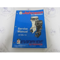 "500610 Johnson Evinrude Outboard Service Manual ""ER"" 85-115 HP 1994"