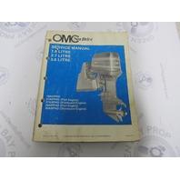 507624 1987 OMC Sea Drive Marine Engine Service Manual 1.8/2.7/3.6L