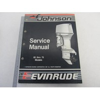 "507662 Johnson Evinrude Outboard Service Manual ""CC"" 60-75 HP 1988"